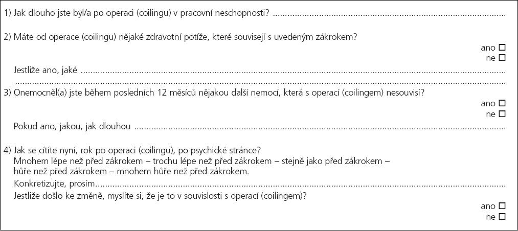 Příloha 1. Příklad otázek ze semistrukturovaného rozhovoru rok po SAH.