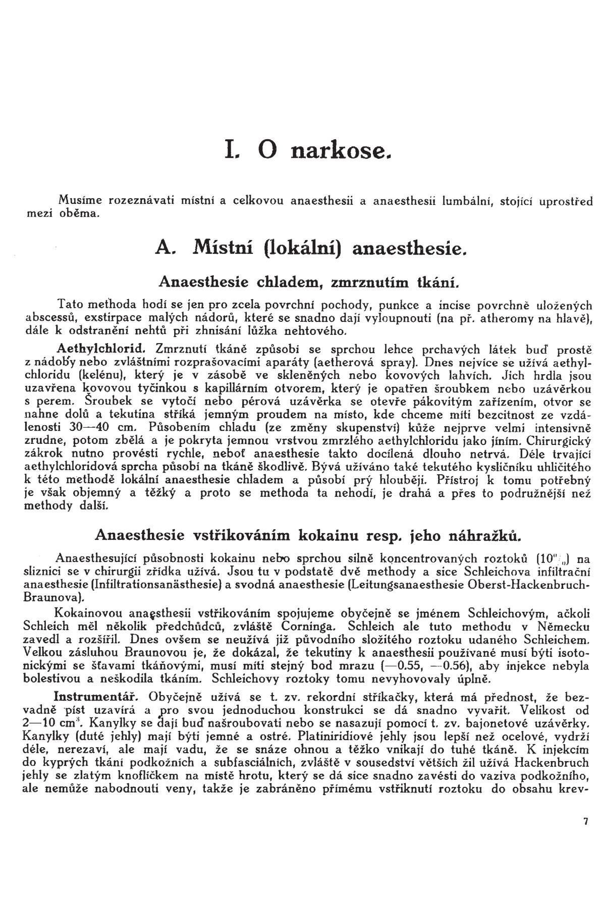 Stránka 7 z učebnice chirurgie z r. 1921