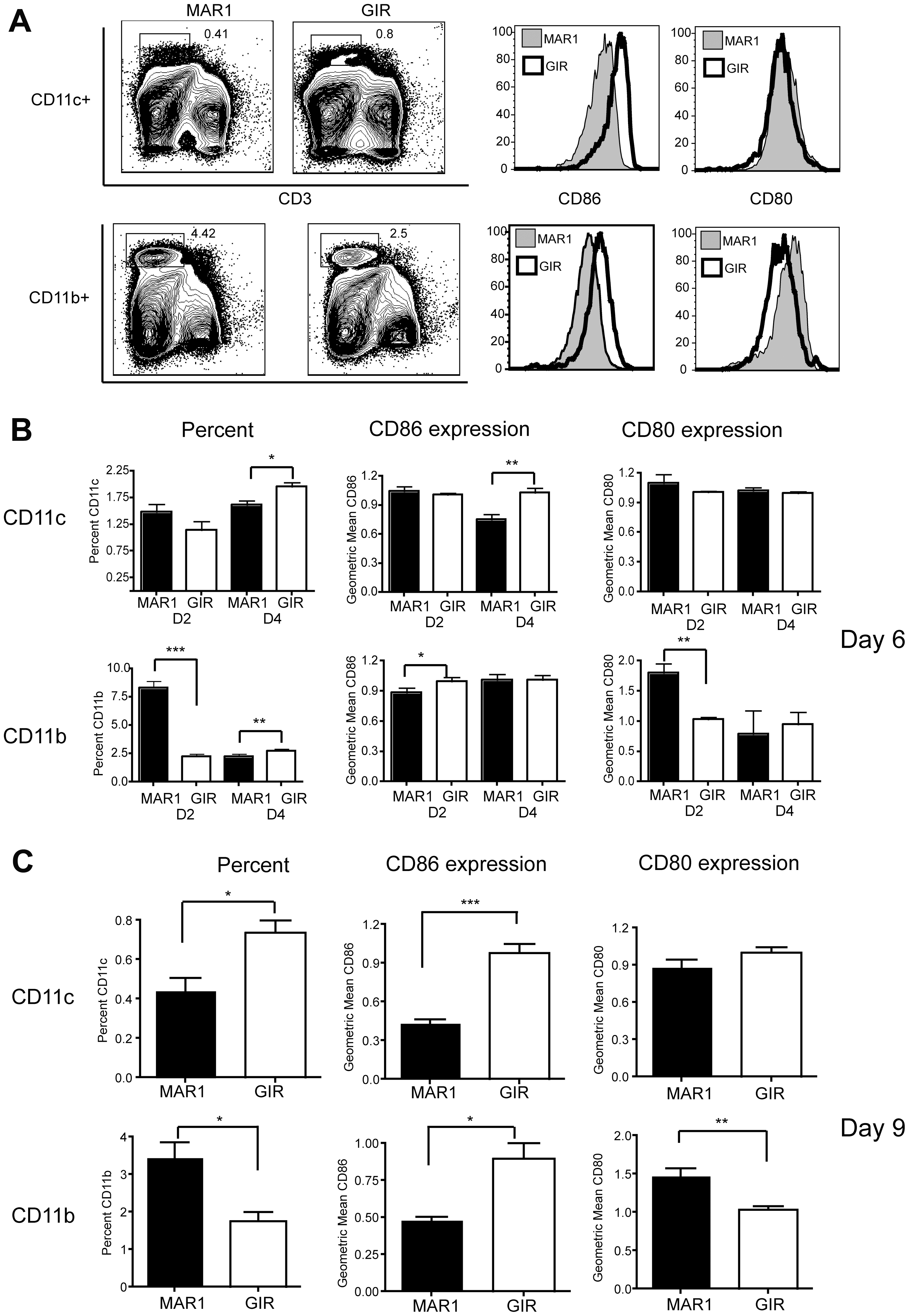 Effect of MAR1-5A3 treatment on costimulatory molecule expression of antigen-presenting cells.