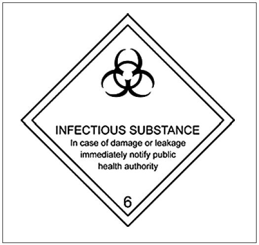 Značka infekční substance kategorie A Fig. 1. Hazard label for Category A infectious substances