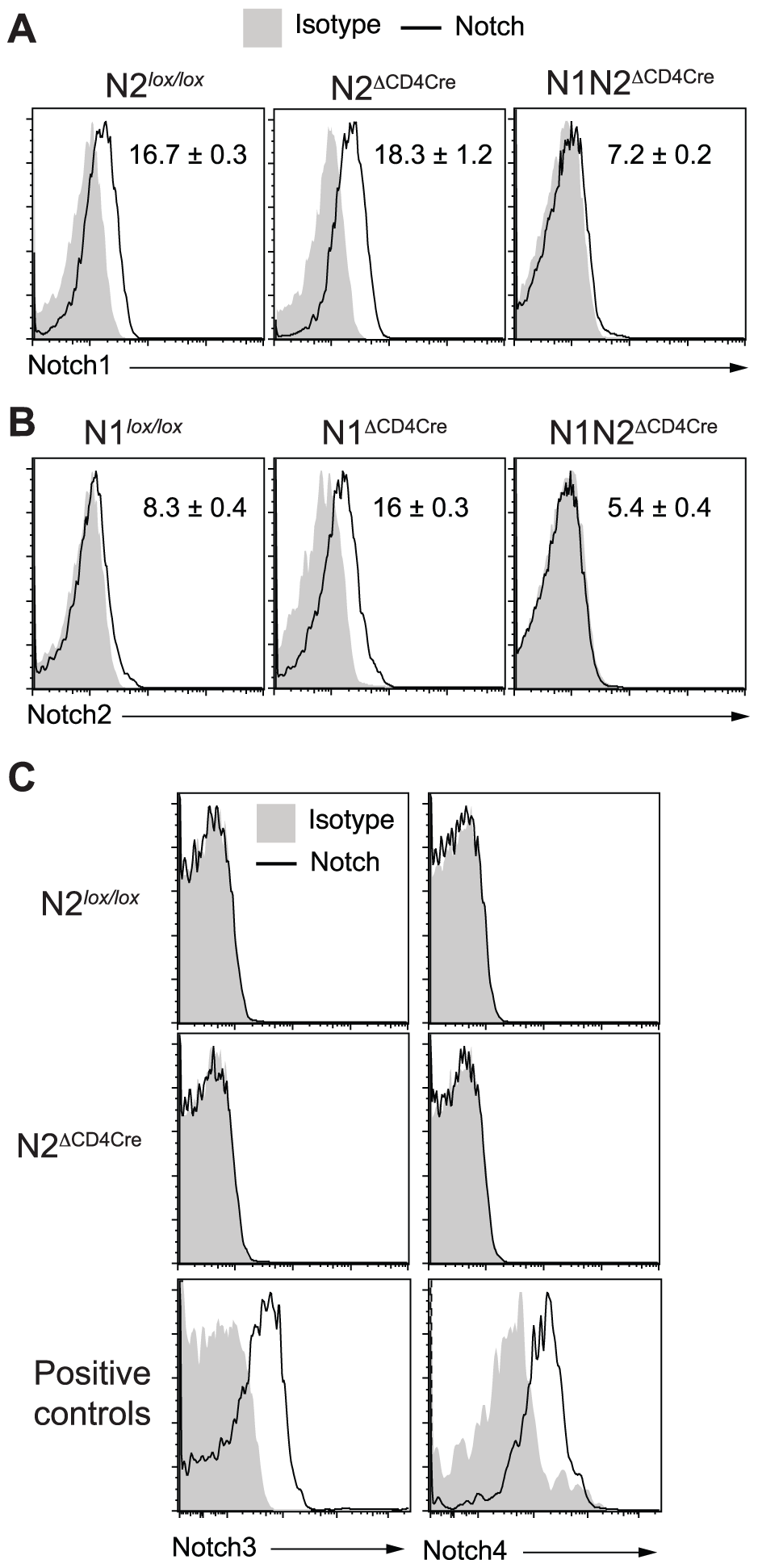 Increased N2 expression can compensate the absence of N1 on <i>L. major</i> stimulated CD4<sup>+</sup> T cells.