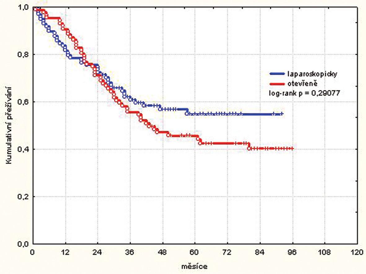 Kumulativní přežívání všech pacientů