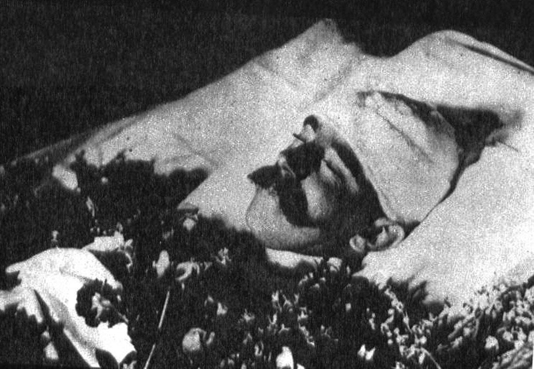 Rudolf na úmrtním loži.