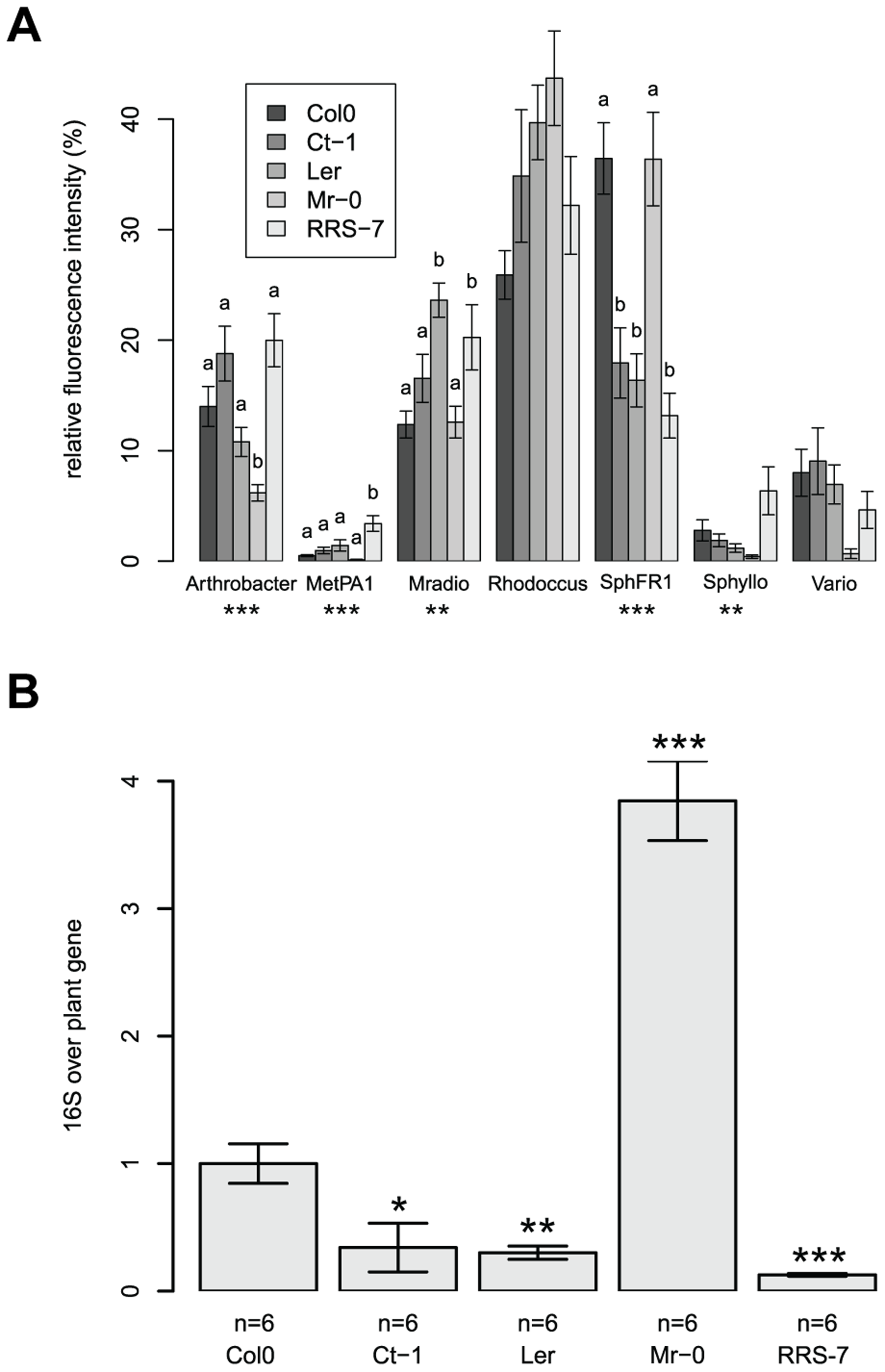 Natural variation in the host has an effect on its associated bacterial communities.