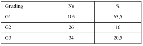 Rozložení souboru podle gradingu