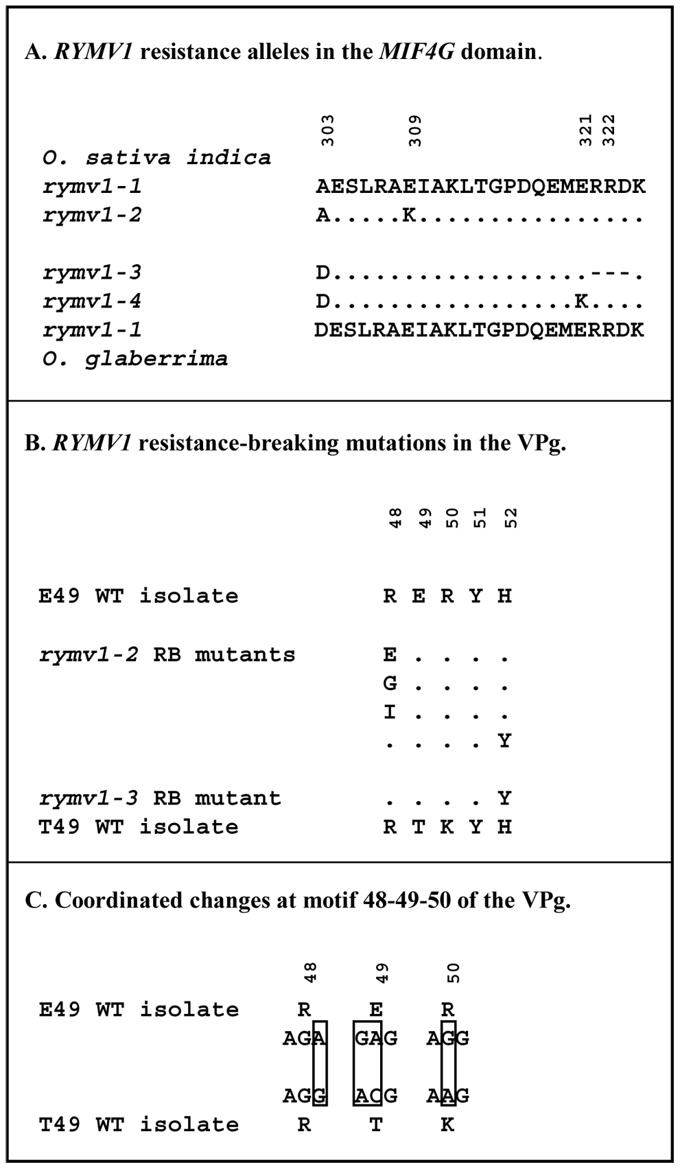 Genetic characteristics of the plant and virus material used in the study.