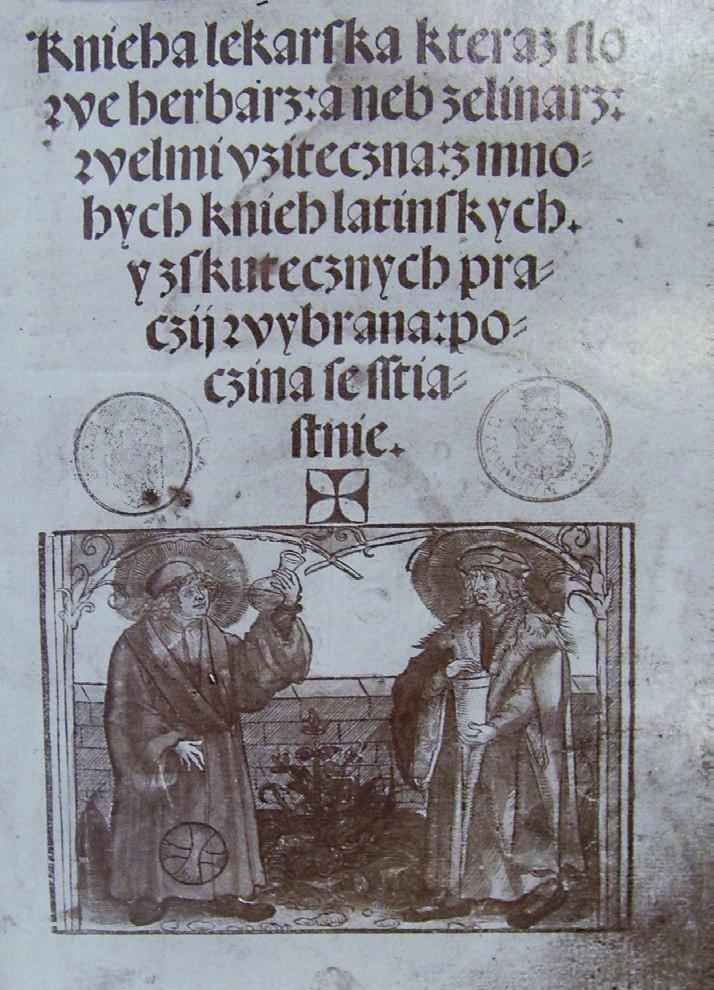 Titulní list – Knieha lékarská, kteráž slove herbář aneb zelinář