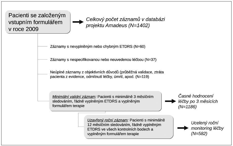 Validace záznamů v databázi projektu AMADEUS – stav k 31.12. 2009