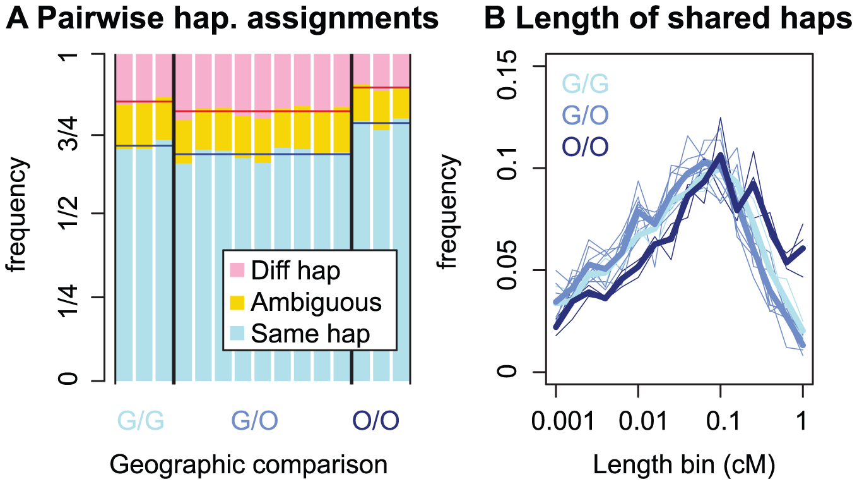 Patterns of founding haplotype sharing in <i>C. rubella</i>.