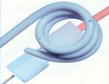 5. Filiform stent s modifikovatelnou délkou. Materiál: Flex, Silikon. Může mít hydrofilní povrch.