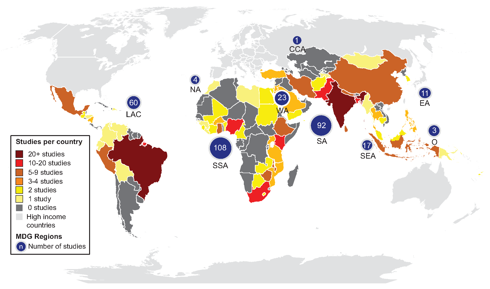 Map of study locations.
