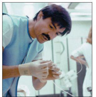 Dr. Grüntzig v curyšské laboratoři