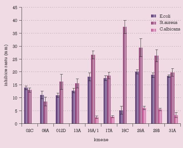 Mikrobicidní aktivita vaginálních laktobacilů vůči patogenům.