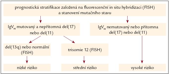 Schéma 3. Jedno z možných prognostických členění [31].