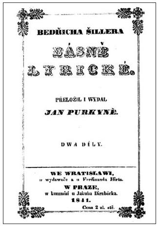 Titulní list vydání Lyrických básní