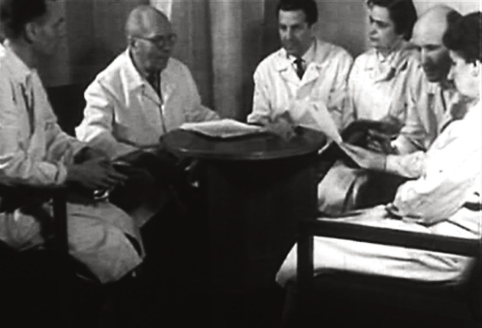 Prof. Seeman se spolupracovníky: dr. Šupáček, prof. Seeman, prof. Sedláček, doc. Sedláčková, dr. Vrtička, as. dr. Langová.
