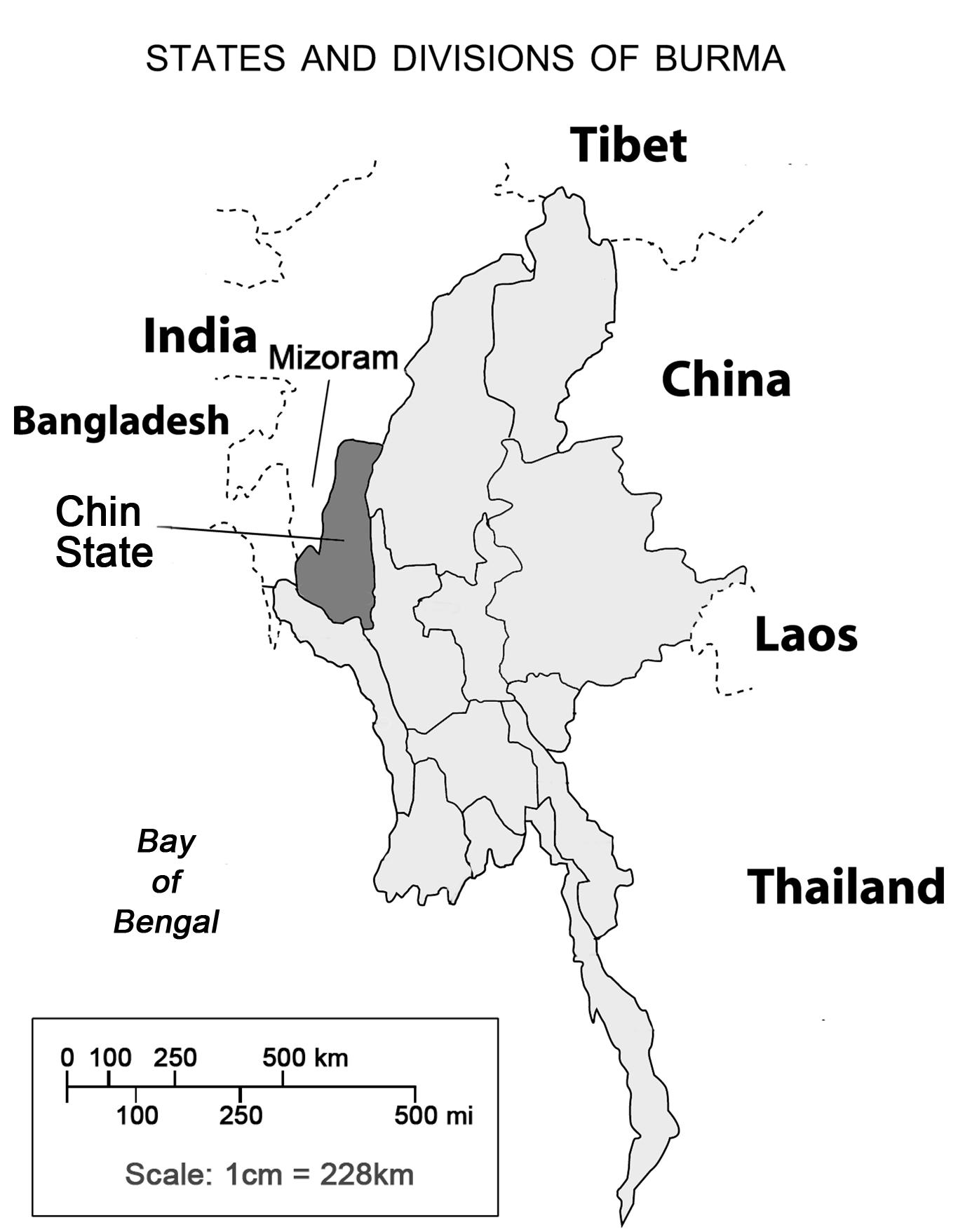 Map of Burma.