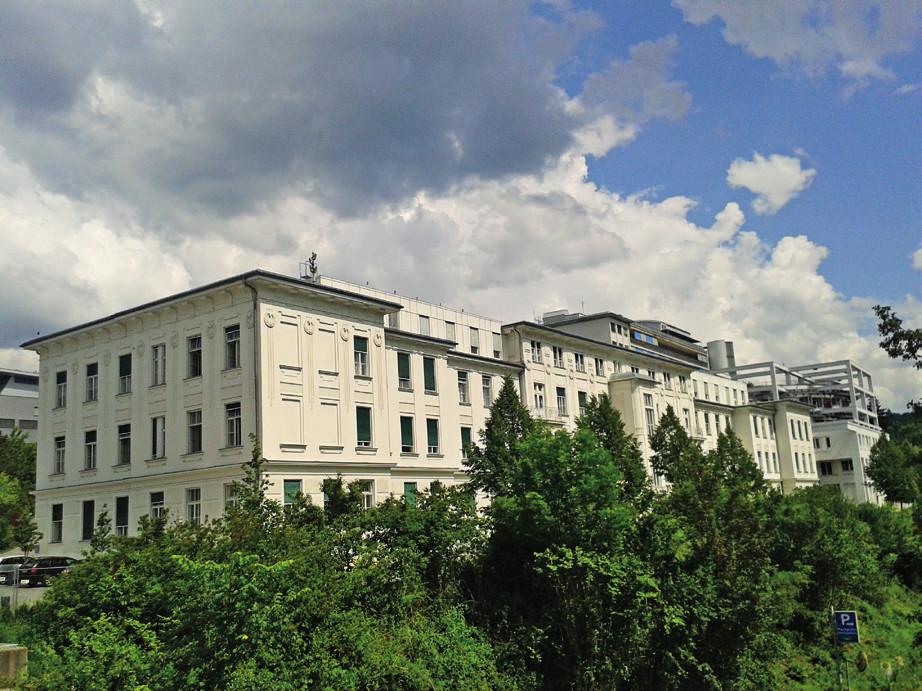 Univerzitní nemocnice ve Štýrském Hradci.