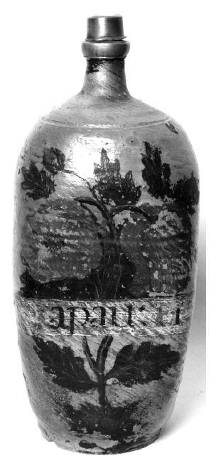Kameninová lahev na Aqua papaver eratica