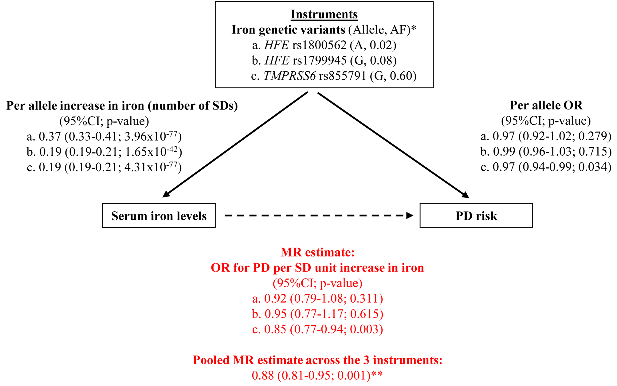 Graphical representation of the MR approach, with all estimates used to derive the final MR estimate.