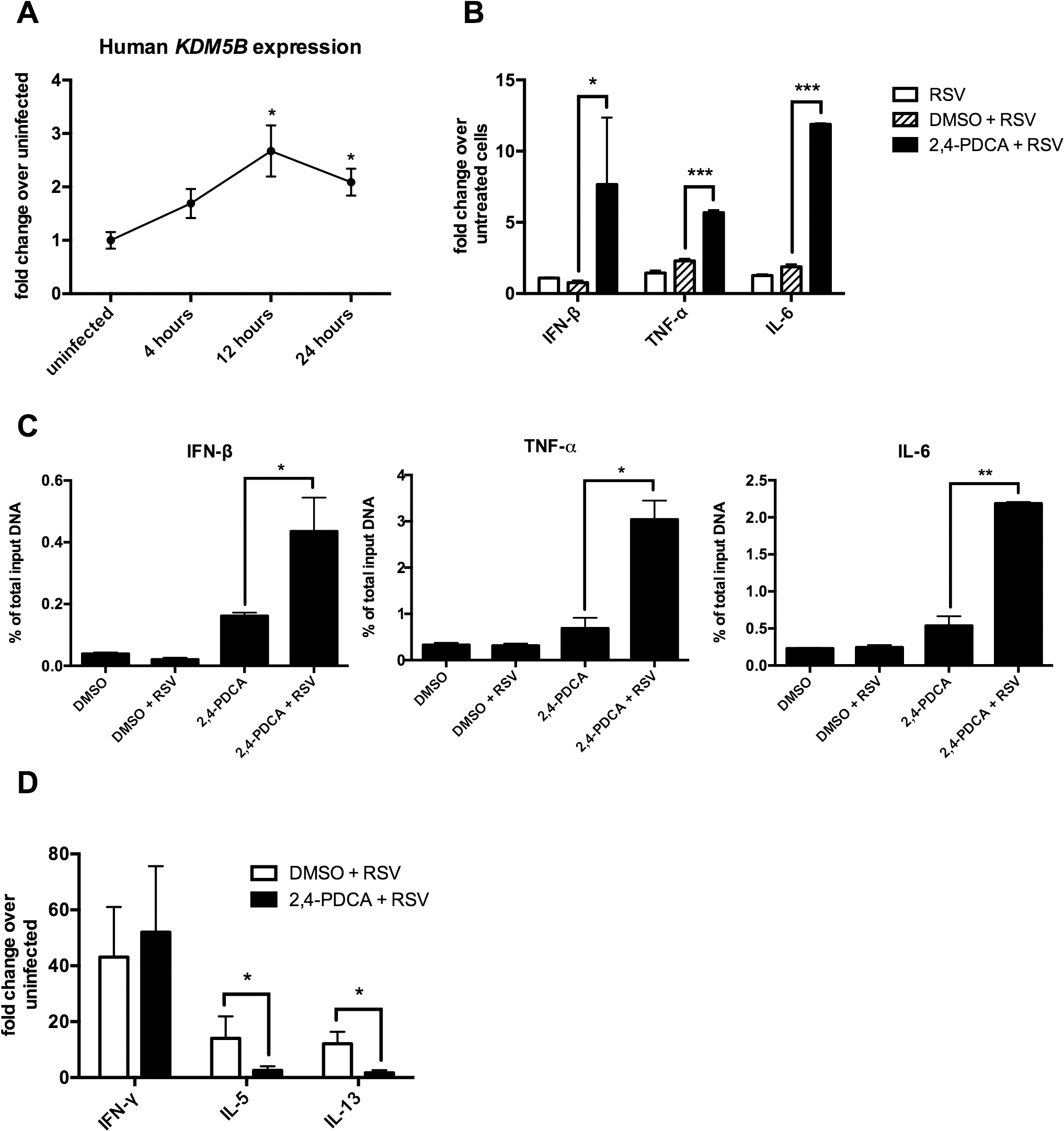 Inhibiting KDM5B in human monocyte-derived DCs leads to increased cytokine production.