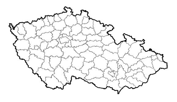Chirurgická lůžková pracoviště v ČR 2009 – 157. Komplexní onkologická centra – 13. Fig. 1. Surgical in-patient departments in the CR 2009 – 157. Complex oncological centres – 13.