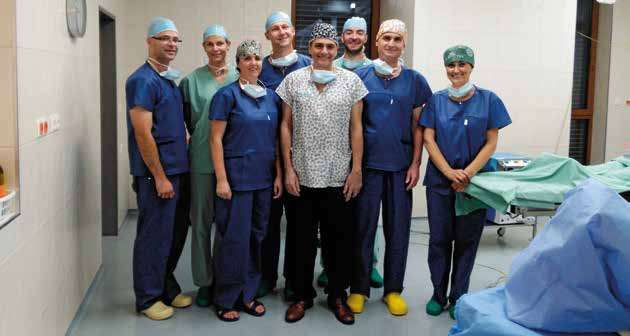 Prof. Fabio Nahas (center), Vladimír Mařík, M.D., (to his left) and other members of the surgical team of Plastic Surgery Centre at Hluboká nad Vltavou