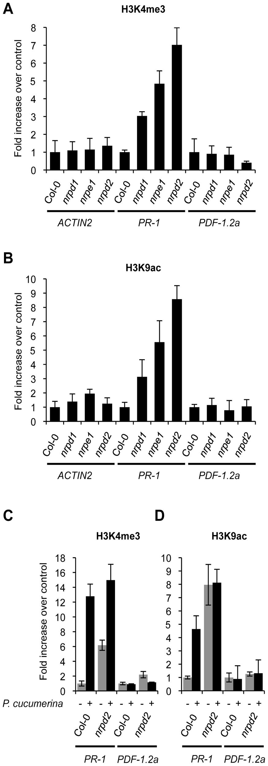 Histone H3 modifications.