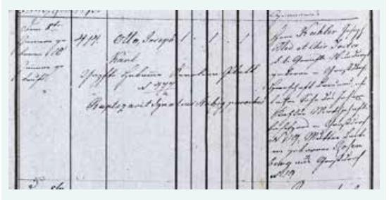 Zápis Ottova narození a křtu (1849) – levá strana