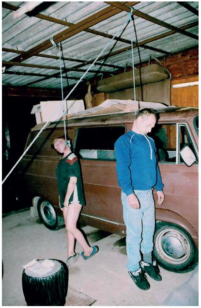 Fig. 1. Bulgarian couple found hanged in their garage.