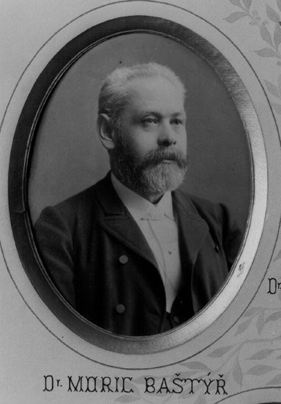 Moric Baštýř, docent zubního lékařství (29. 12. 1835 – 14. 9. 1894).