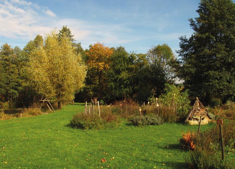 Bylinné zahrady v sídle firmy Nobilis Tilia
