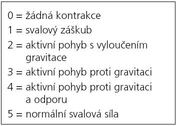 Svalový test [48].