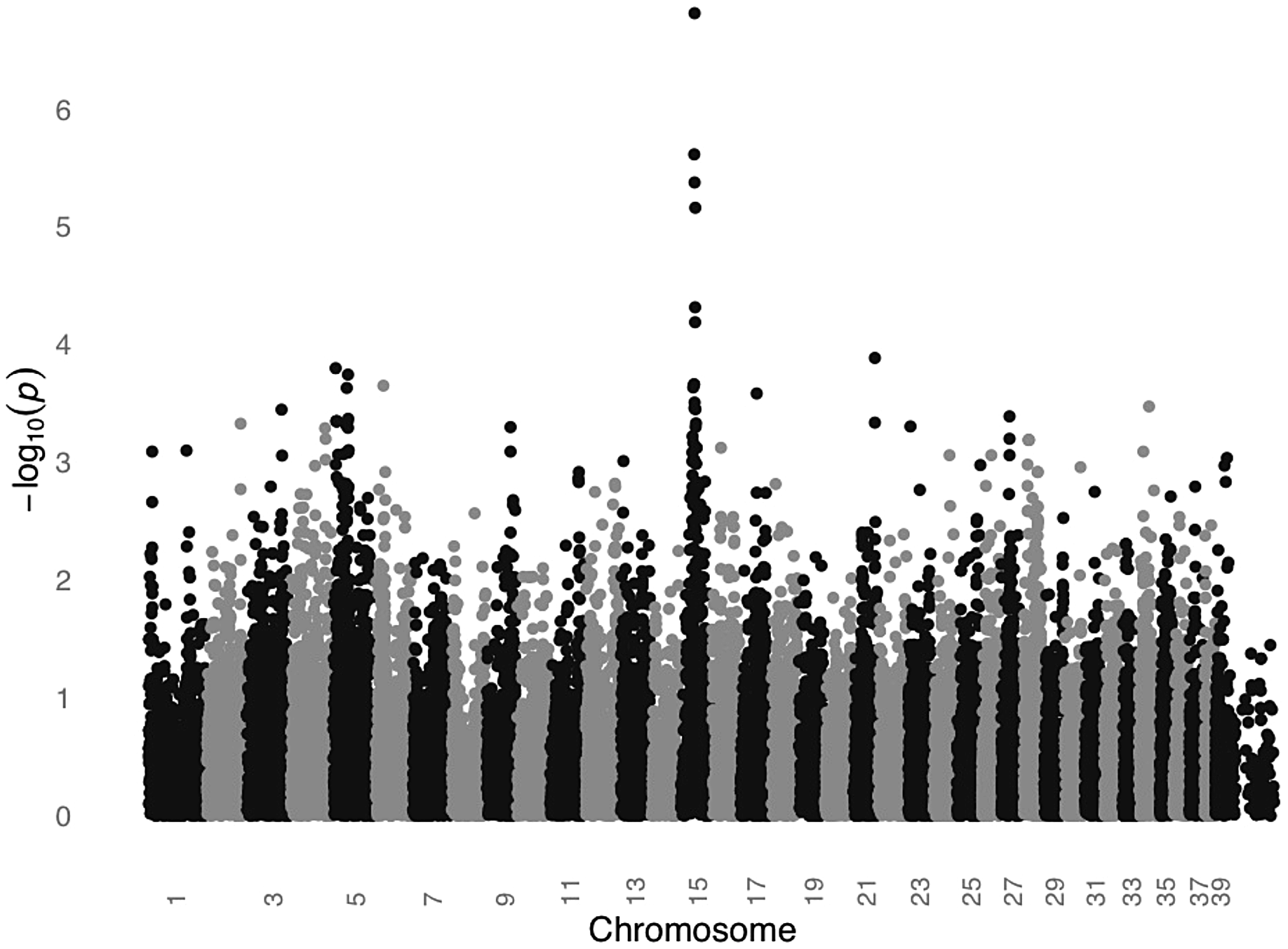 GWAS for SCCD in STPOs identifies a significant locus on CFA15.
