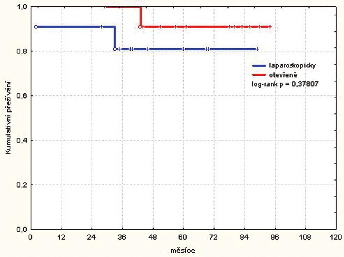 Kumulativní přežívání pacientů stadia I
