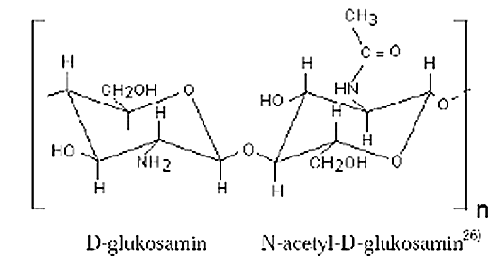 Fig. 2. Chemical structure of chitosan