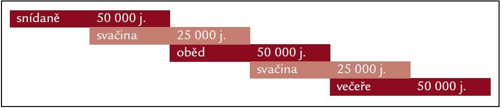 Schéma 1. Schéma optimálního podávání preparátu s obsahem lipázy.