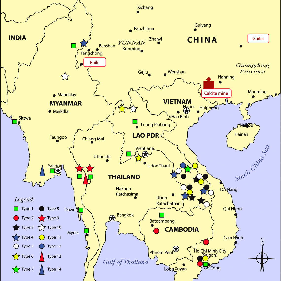 Map of the Distribution of Fake Artesunate, Collected by Wellcome Trust-University of Oxford SE Asian Tropical Medicine Research Programme and Collaborators, in Relation to Packaging Type