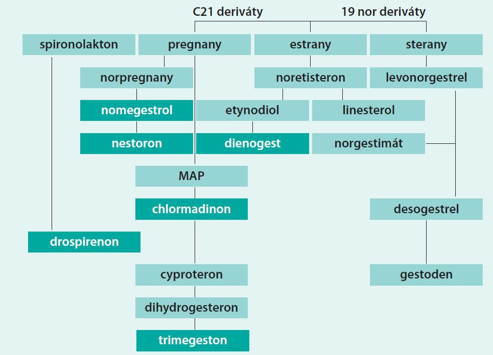 Schéma. Klasifikace podle chemického původu