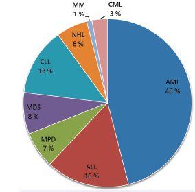 Pacienti – zastoupení jednotlivých diagnóz Fig. 1. Distribution of patients by diagnosis