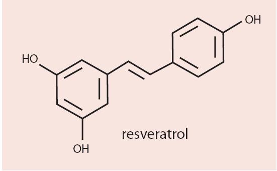 Obr. Chemický vzorec resveratrolu