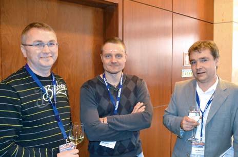 Doc. Martínek se slovenskými přáteli (dr. Kunčak a dr. Csontos). Fig. 2. Ass. Prof. Martinek with friends from Slovakia (dr. Kunčak and dr. Csontos).