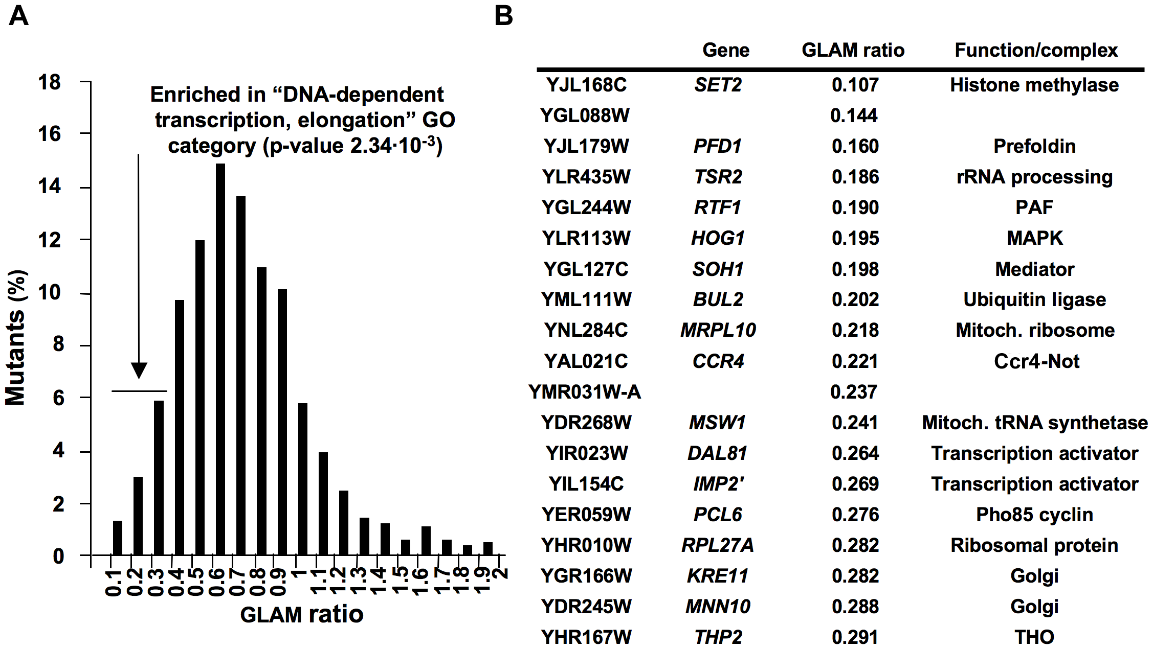 Systematic genetic analysis of budding yeast <i>Saccharomyces cerevisiae</i> based on the GLAM assay.
