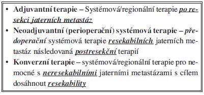 Kombinace farmakoterapie a chirurgické léčby v předem plánované časové sekvenci v léčbě jaterních metastáz KRK
