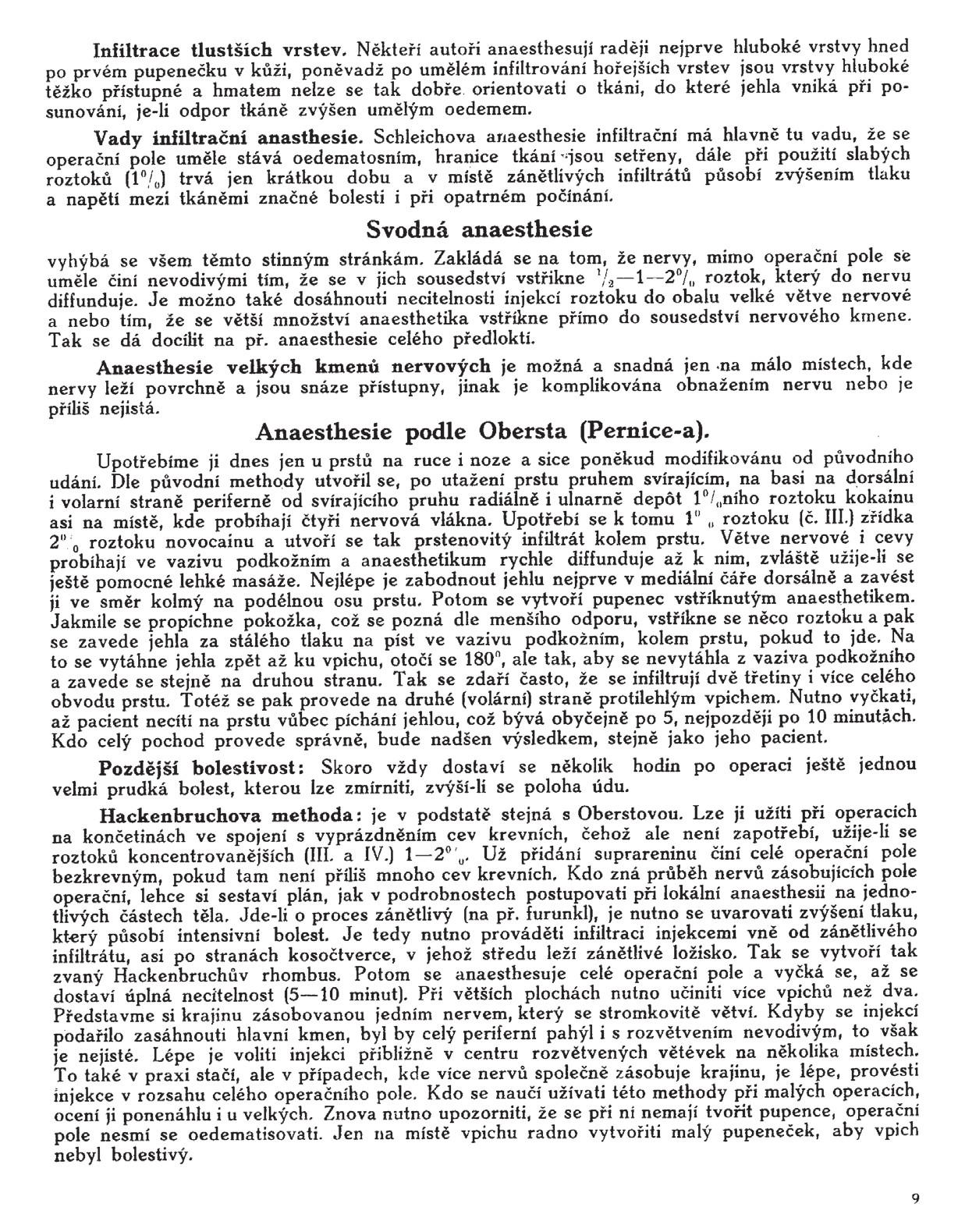 Stránka 9 z učebnice chirurgie z r. 1921