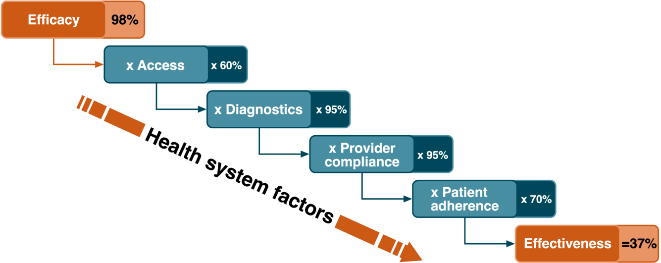 Graphical representation of the systems effectiveness framework.