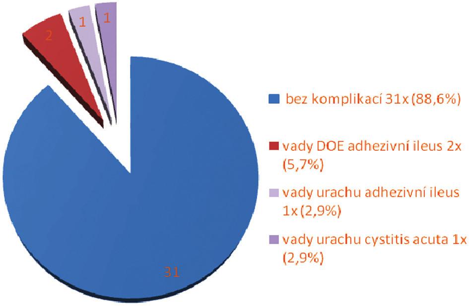 Pooperační komplikace Graph 5. Postoperative complications