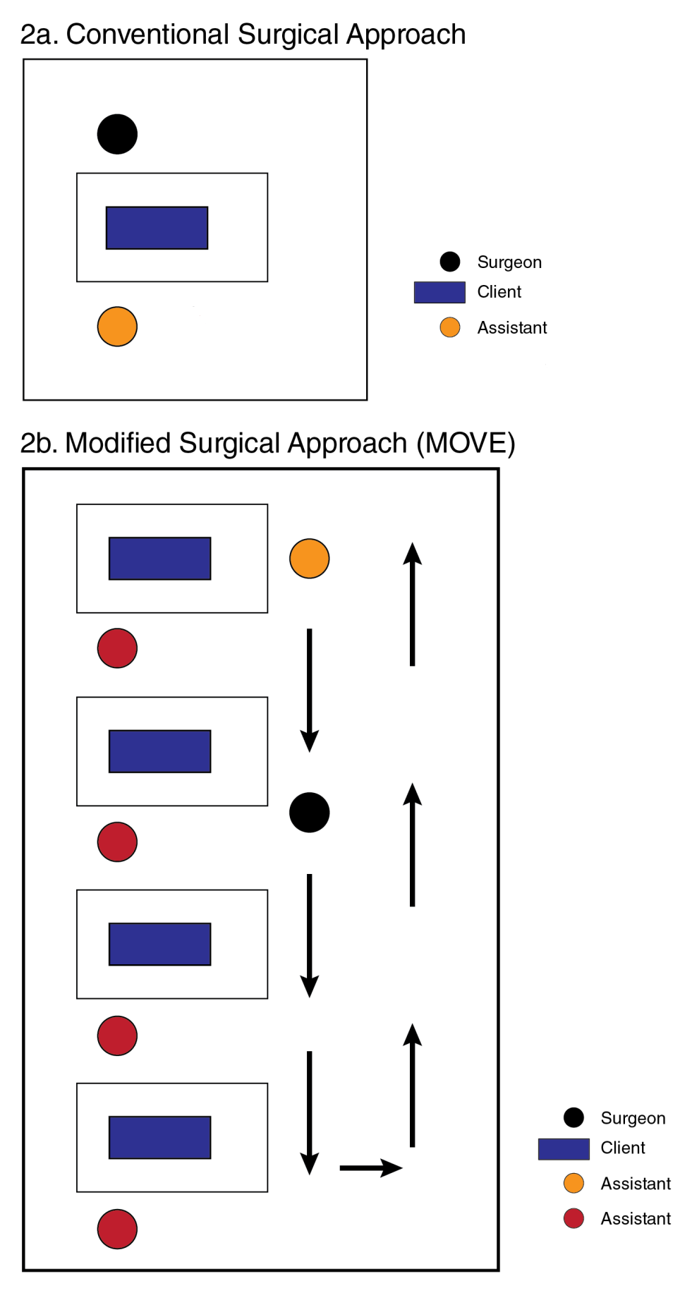 Conventional and modified surgical approaches to MC provision.