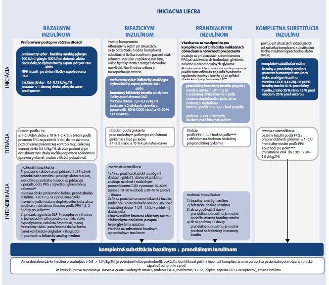 Schéma 6.4 | Liečba inzulínom v súlade s IO a SPC