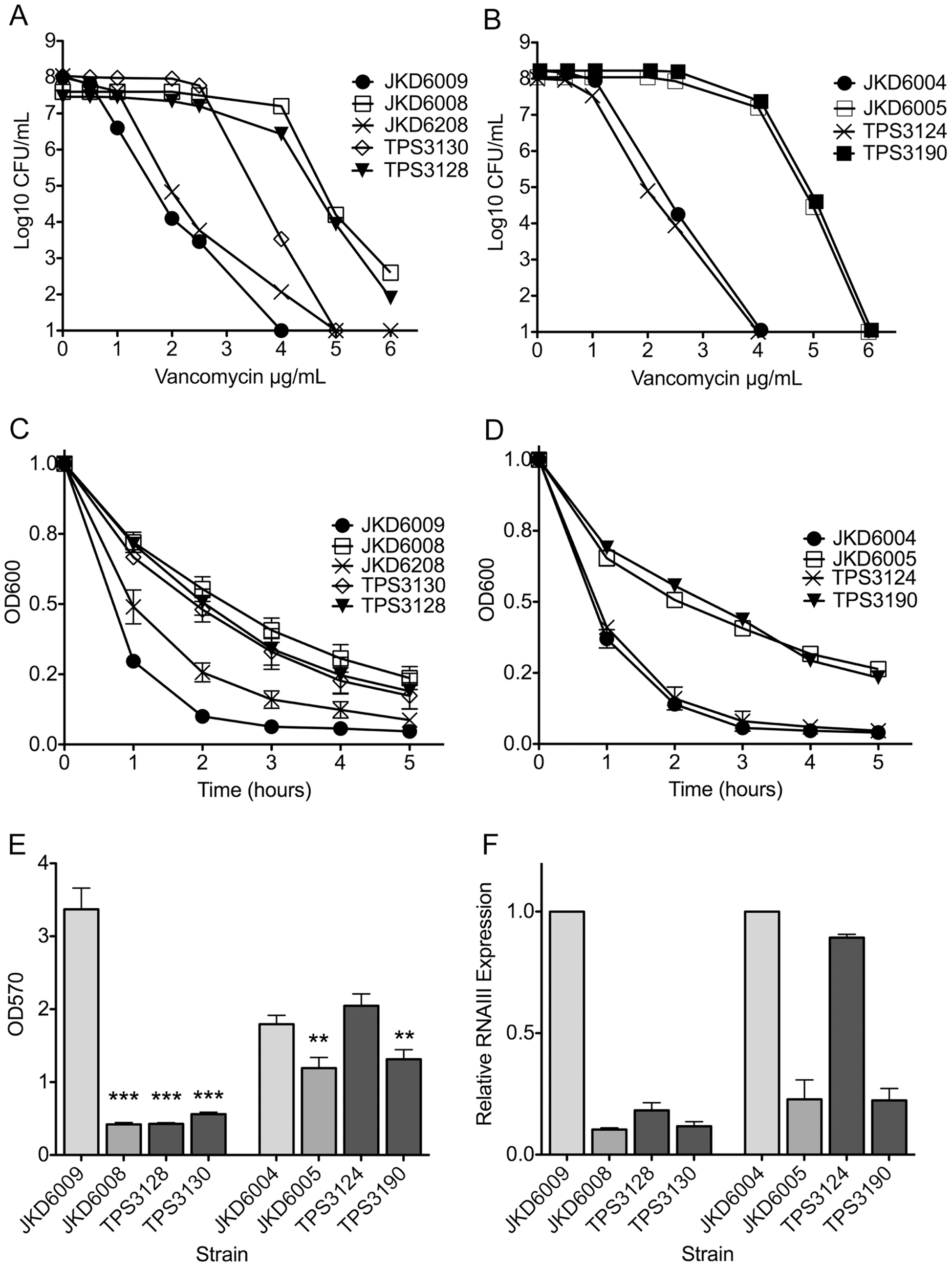 Analysis of antibiotic susceptibility, autolytic activity, biofilm formation and <i>agr</i> activity of clinical and mutant strains.